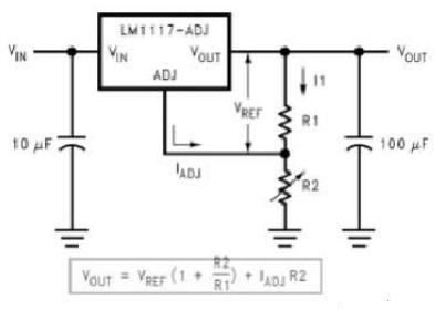 lm1117-adj典型电路中的r1的121欧姆可以改成其他的