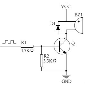 无源蜂鸣器常规驱动电路
