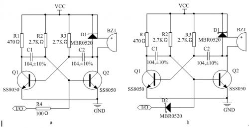 无源蜂鸣器控制电路