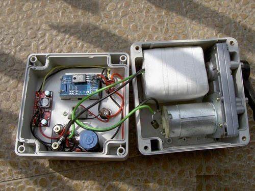 自制便携式手摇发电机