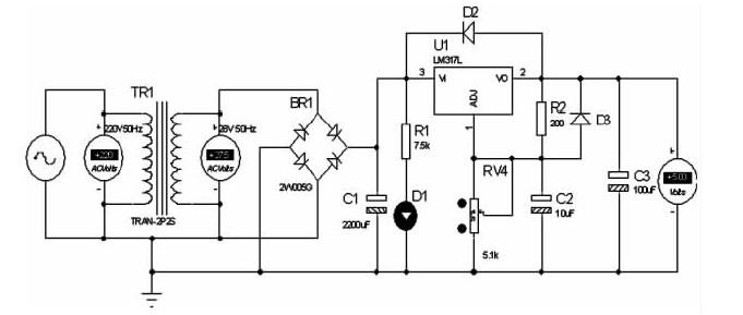 直流可调稳压电源的设计与Proteus仿真广告设计跟平面设计的区别图片