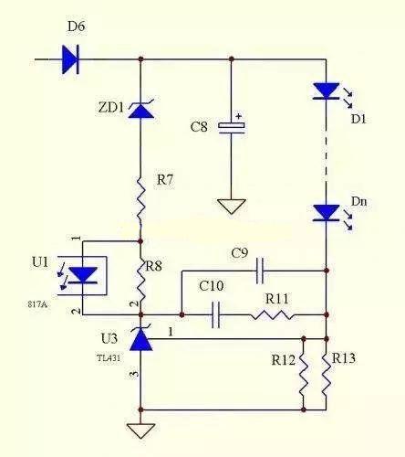 TL431恒流方式电路图 led恒流电源电路图 文章 基础课 电子技术基础 畅学