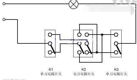 三开双控开关接线图解 文章 技术应用 工业控制 畅学电子网